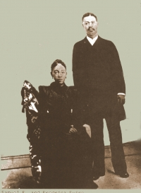 Rev. Samuel E. Ewing and Fredrika Ewing - parents of Anna 'Mama' (Ewing) Brown, Samuel 'Sam' Ewing, William 'Willie